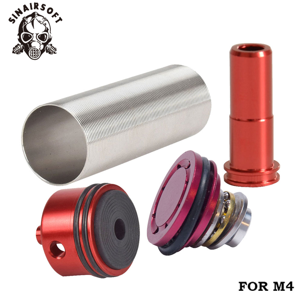 Cylinder Head /piston Head /nozzle /Cylinder Set For M4 Series Airsoft AEG Hunting Accessories