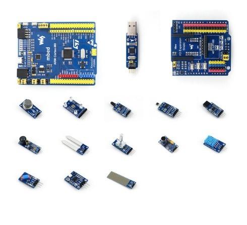 STM32F030R8T6 XNUCLEO-F030R8 STM32 ARM Cortex M0 Development Board Compatível com NUCLEO-F030R8 + IO Escudo de Expansão + Sensores