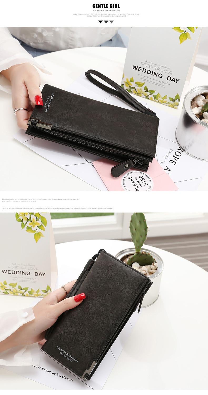Женские кошельки, модная женская барсетка с ремешком на руку, сумки, длинная сумка для денег, на молнии, кошелек для монет, для карт, ID держатель, клатч, женский кошелек, Burse Notecase