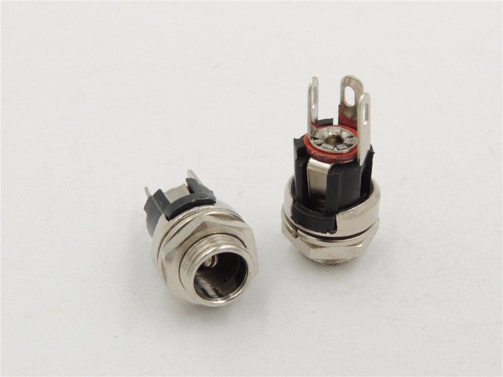 10pcs DC Power Supply Jack Socket Female Panel Mount Connector 5.5 x 2.1mm JH