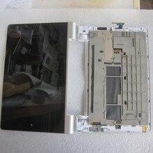 Para lenovo yoga tablet 10 b8000 b8000-h completo lcd panel de visualización de la pantalla táctil de cristal digitalizador asamblea con marco, envío gratis