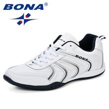 BONA New Classics Style Men Running Shoes Lace Up Men Athlet