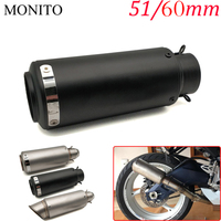 For BMW R1200S R1200ST R1150RT F650CS R1100S R1150R S1000RR Motorcycle SC Exhaust Pipe Scooter Escape Exhaust Muffler Universal
