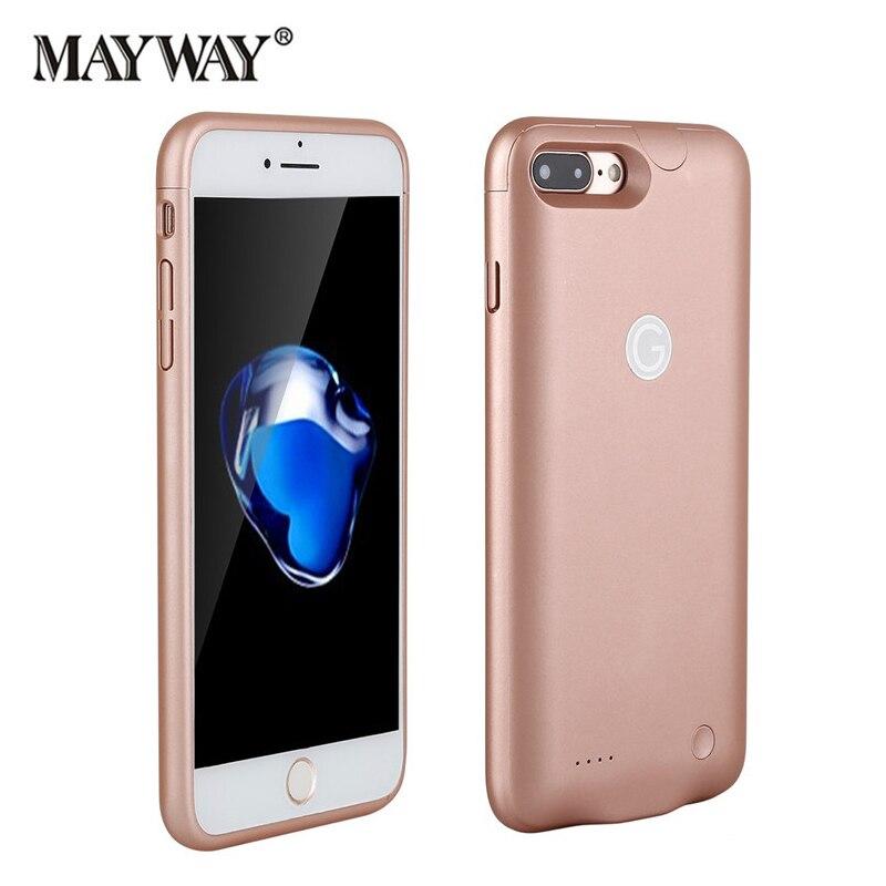 bilder für Wiederaufladbare Ladegerät Fall Backup Batterie Telefonabdeckung für iPhone 6 6 s 7 7 Plus Energienbank Externe ultradünne Super licht