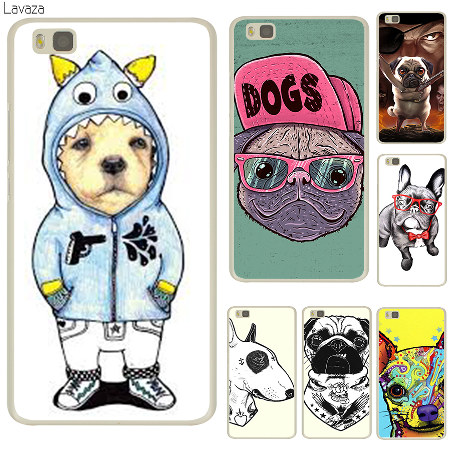 Lavaza Tattooed Bullterrier Cute dog Biaoqing Hard Transparent Case Cover for Huawei P8 Lite 2015