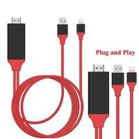 1080P Lightning To HDMI HDTV AV TV Adapter Cable Airplay Mirroring Display Audio Share For Ios