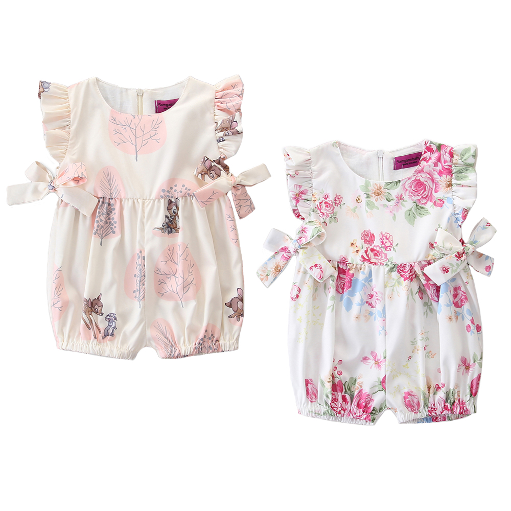 Newborn Baby Girl Summer Flower Bow Tops Dress Shorts Briefs Outfits Clothes Hot