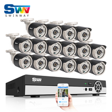 Sale 16CH AHD Surveillance System 1080N HDMI DVR 720P 1800TVL IR Outdoor Camera Home Digital Video Recorder CCTV Camera Kit
