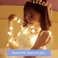 Funciona Con Pilas LLEVÓ Cadena de Luces de Hadas de la Perla Estrella del Año Nuevo Guirnalda Decoraciones De Navidad Luces LED Luces De Navidad Al Aire Libre