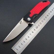 Eafengrow ef53 58 60hrc d2 lâmina g10 lidar com faca dobrável sobrevivência ferramenta de acampamento caça bolso faca tático edc ferramenta ao ar livre