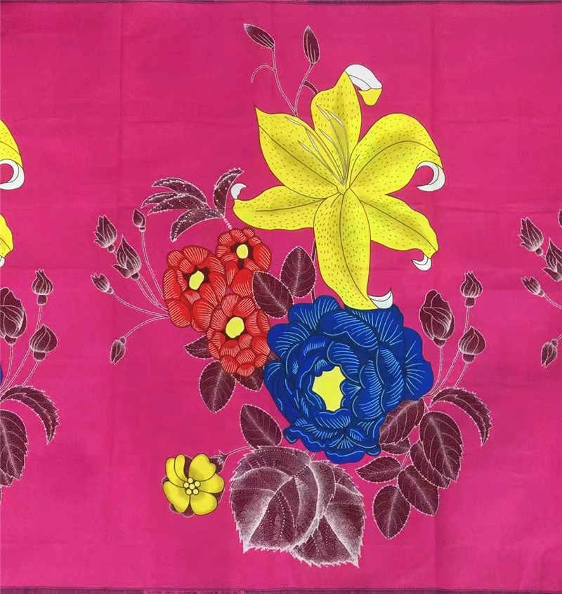 ... Анкара Африканский Воск набивная ткань текстиль для дивана Африканский  батик ткань красивые цветы дизайн с принтом 6d490f2d43574