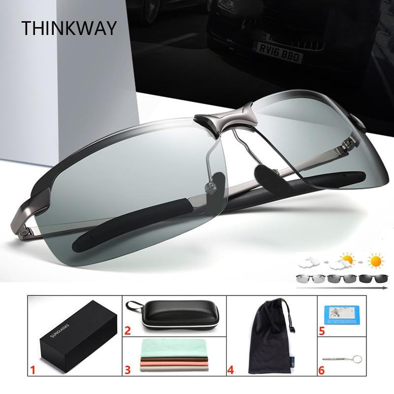 YHD36 Photochromic Sunglasses Men Polarized Sunglasses Women Sport Eyewear UV400 Driving Glasses with Eyewear case