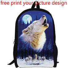 picture photo custom 3D effect creative animal pattern print customized personality DIY backpack school student bag