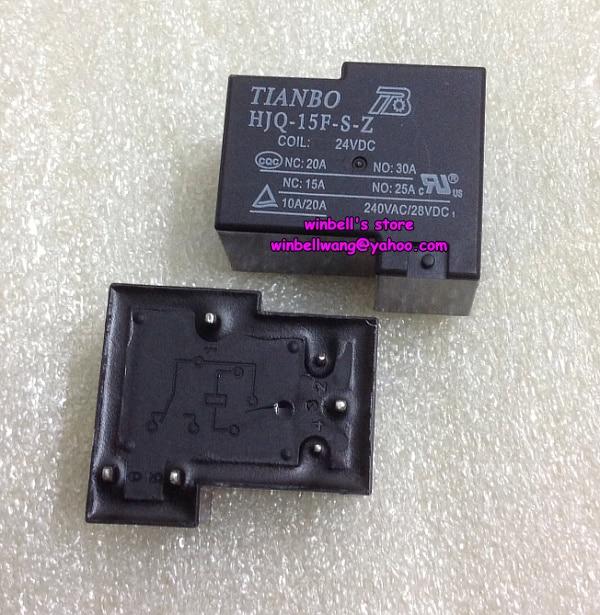 10PCS 6pins HJQ-15F-S-Z 24VDC Relay