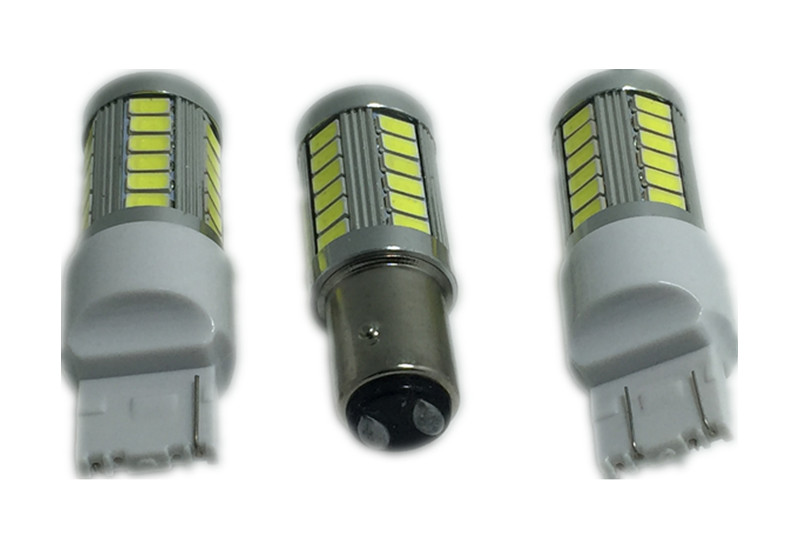 1pcs Car led 1157 T20 BAY15D 33 led Samsung 5630smd High Power LED Tail Brake Stop Light Bulbs Red White Yellow car light source