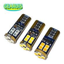 10 pces w5w led canbus t10 12 smd 3030 nenhum erro lâmpada do carro virar lado da placa de licença luz tronco lâmpada luzes de folga branco vermelho âmbar