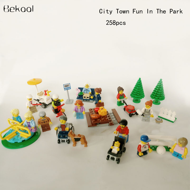 Online Shop NEW 258PCS City Town Fun In The Park People Pack ...