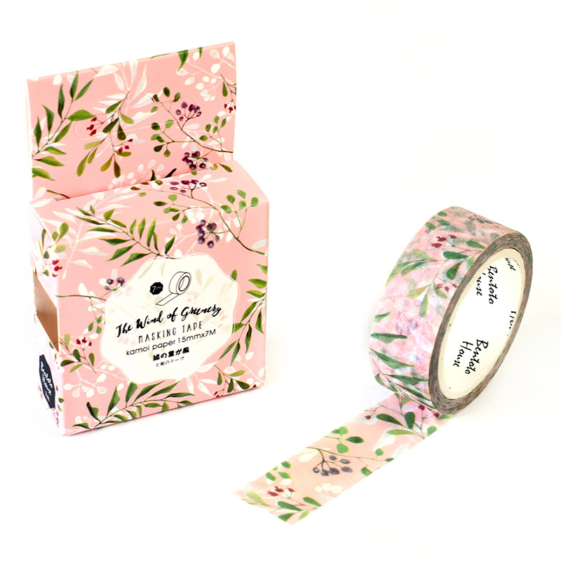 Greenery Washi Tape DIY Scrapbooking Sticker Label Masking Tape School Office Supply