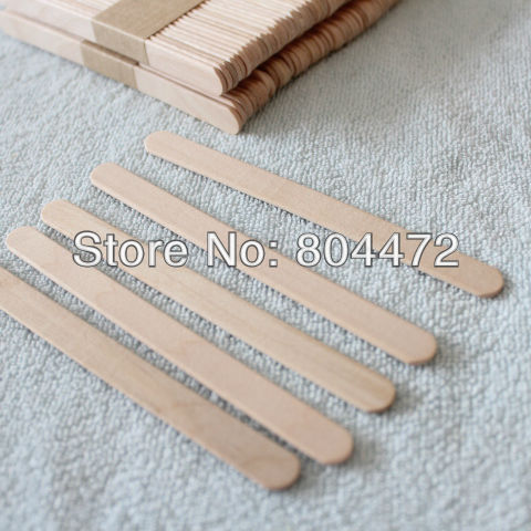 100x Wood Ice Cream Stick 11cm Long Wooden Popsicle Stick Popsicle