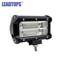 LEADTOPS 1pcs 5INCH 72W Three Rows Led Light Bar Modified Off Road Driving Lights Roof Light
