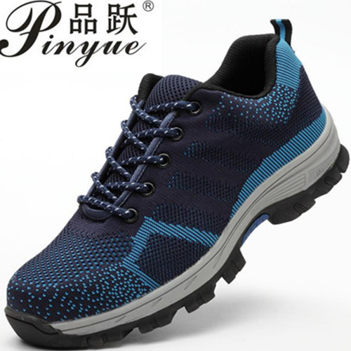 men fashion large size breathable mesh steel toe caps work safety summer shoes non-slip platform anti-puncture tooling boots цены онлайн