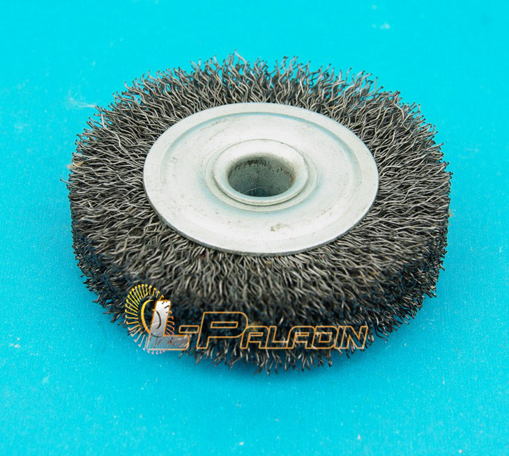 100mm*16mm Arbor Hole Crimped Steel Wire Wheel Brush for Metal ...