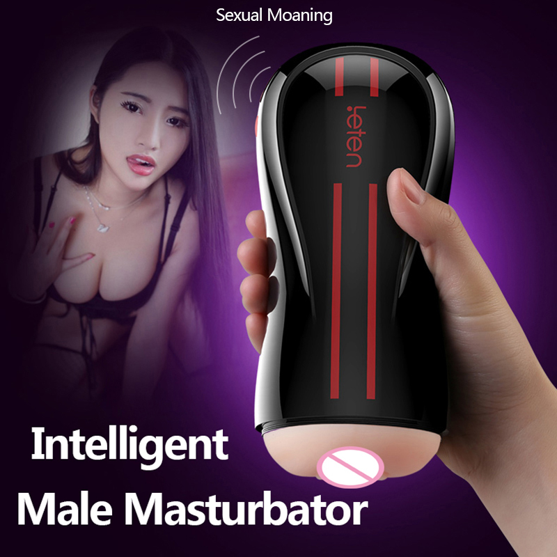 High Quality Hands Free Male Masturbator Double Shock Vibration Vagina Real Pussy Adult Sex Toys For Men Sex Products leten 4d vagina electric male masturbator sex toys for men real pussy app interactive smart control vibration adult sex products