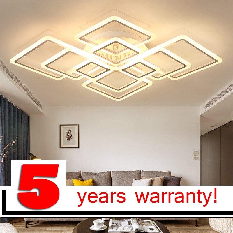 LOFAHS Moderne acrylique LED plafond lumière Qui Se Chevauchent cadres grand de luxe plafond lampe pour salon salle à manger chambre lustre pj-401