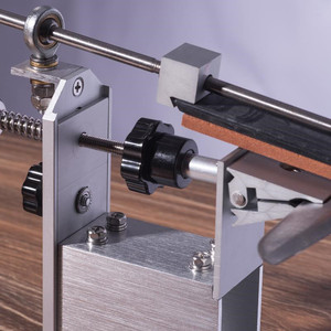 Image 3 - 5 generation professional pro Apex Edge kitchen knife sharpener system with 3pcs Whetstones+ Aluminum alloy+ G clip