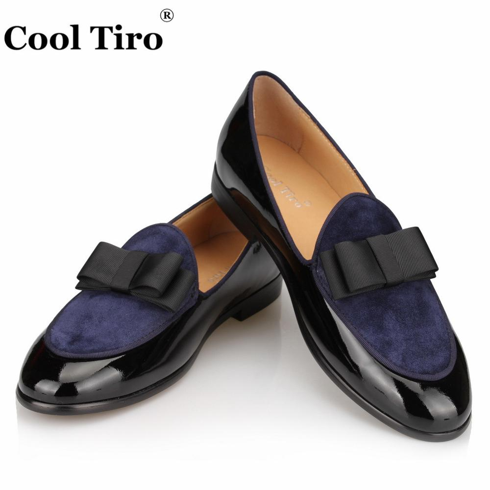 Męskie mokasyny mokasyny pantofle Bowknot suknia ślubna męskie mieszkania panowie! wygodne wsuwane buty czarne buty ze skóry lakierowanej, niebieskie zamszowe w Męskie nieformalne buty od Buty na  Grupa 1