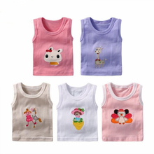 5pcs/lot Kids Girls Cartoon Sleeveless Clothes