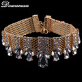 Dvacaman 2016 New Fashion Crystal Choker Necklace Women Maxi Short Necklace Wedding Party Statement Jewelry 8904