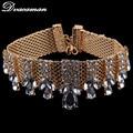 Dvacaman 2016 New Fashion Crystal Choker Necklace Women Maxi Short Necklace Wedding Party Statement Jewelry 8904