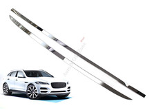 For Jaguar F-Pace f pace X761 2016 Chromed Stainless Rear Trunk Gate Decorative Sill Cover Trim 2pcs