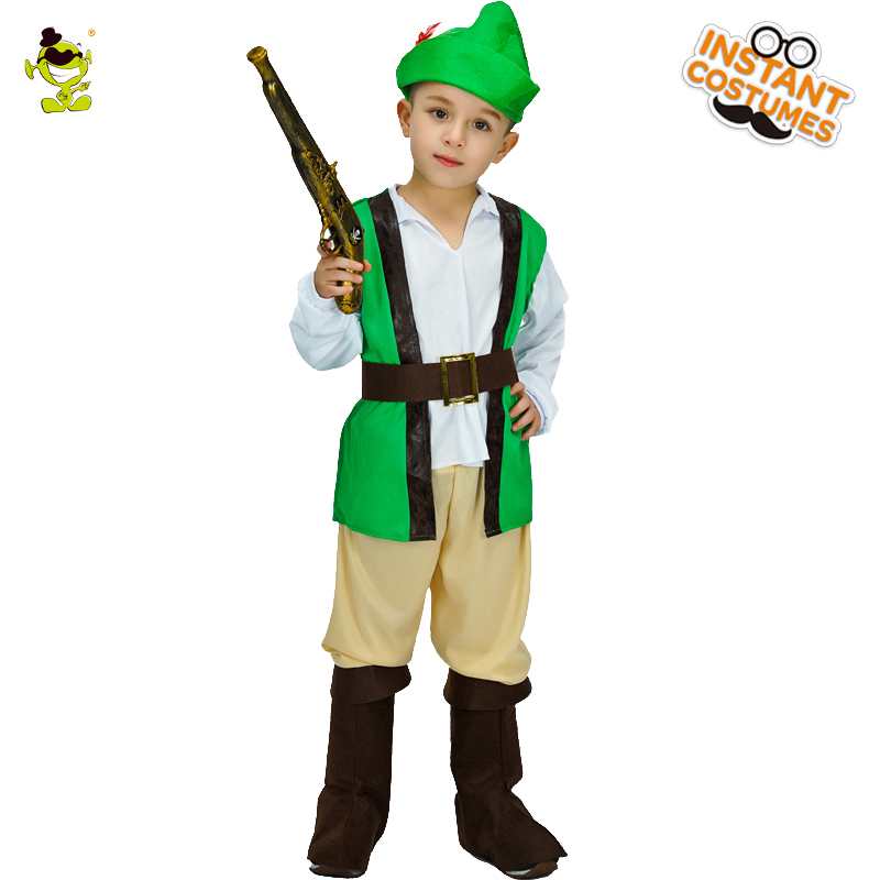 Robin Hero Kid Boy Fancy Hallowen Party Costume Outfit Set Age 5-6 Years FC007