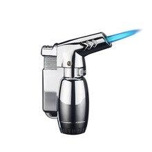 Spray Gun Blue Fire Windproof Lighter Compact Butane Jet Lighter Gas Torch Turbo Lighter Metal 1300 C Safety Lock Cigar Lighter