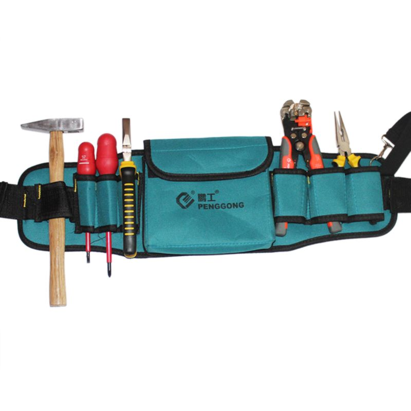 Hardware Toolkit Mechanics Waist Tool Bags Waterproof Oxford Cloth Multi Organize Pockets Storage Pouch Electrician Worker