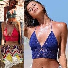 11 Color Beach Crochet Bikini Top Lining Summer Swimwear Honeymoon Hippy Bra Swimming Pools Spas Yacht Surf