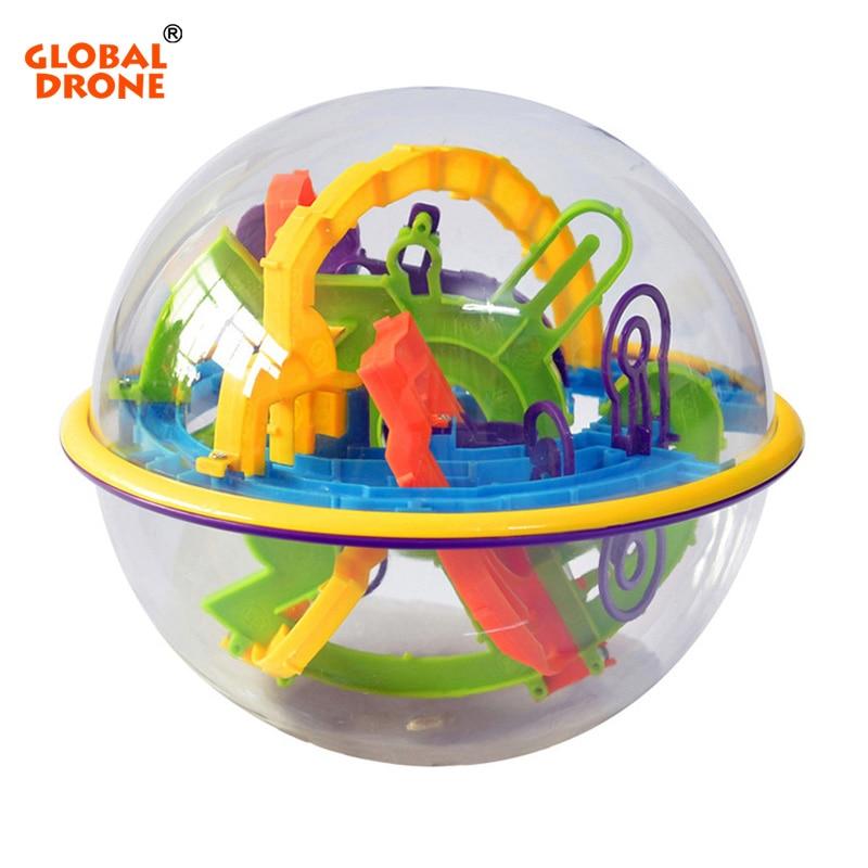 GLOBAL DRONE 3D Magic Maze Ball Plastic Perplexus Magical Intellect Ball Kids Children IQ Educational Classic