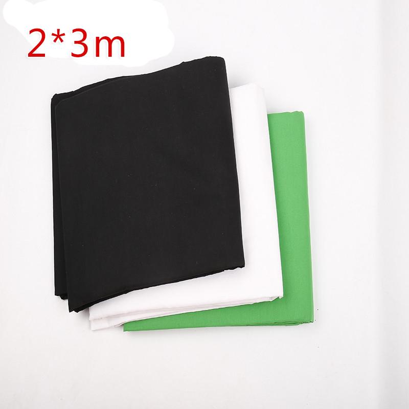 2x3m Photography Solid Color Background Screen 100% Cotton Muslin Photographic Backdrops For Studio Black green white blue gray photography photo video continuous lighting kit 2x3m background support light stand with green black white 2x3 muslin backdrops