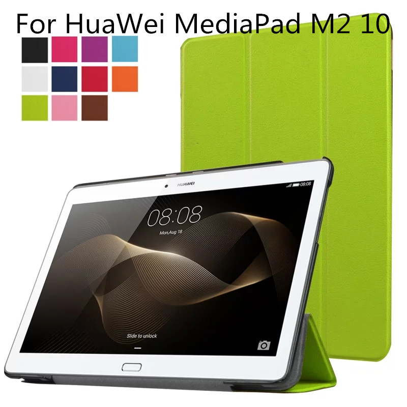 For Huawei MediaPad M2 10.1,Ultra Slim Lightweight PU Leather Folio Case Stand Cover for Huawei MediaPad M2 10 inch Tablet new fashion pattern ultra slim lightweight luxury folio stand leather case cover for huawei mediapad t2 pro 10 0 fdr a01w a03l
