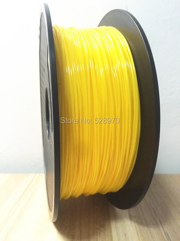 High quality yellow color filamentos 3d flexible printer filament 1.75mm Professional manufacturer 1kg/2.2lb ROHS best quality 1kg emodin 98