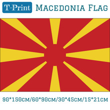 Flying Flag 3x5ft 90*150cm/60*90cm/15*21cm 30*45cm Car Flag Macedonia National Flag поло print bar macedonia