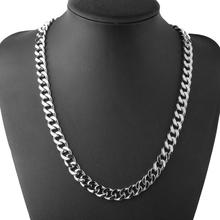 цена на Silver Stainless Steel mens Necklace chain link punk Gifts for Men Women Best Friends Hip Hop men Necklaces Male Figaro Chains