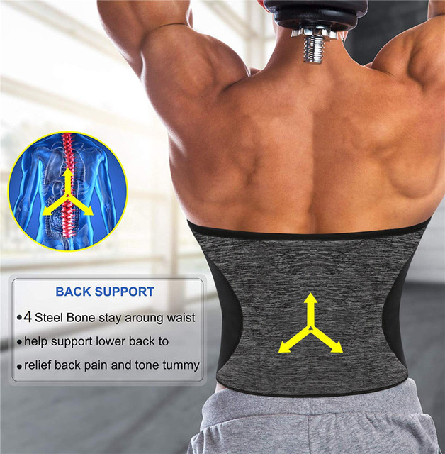 NINGMI Man Shaper Waist Trainer for Men Neoprene Hot Sweat Shirt Body Modeling Belt Weight Loss Slimming Underwear Corset Girdle 1
