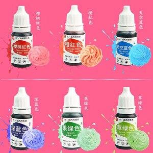 Image 5 - 12PC jadalna żywność farbowanie Pigment zestaw żelowy do Macaron/lukier/szlam/ciasto kremówka Accessoies przyrządy do dekorowania wypieków ciasta