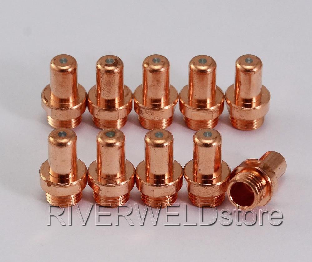 C1402 Plasma Electrode Fit Cebora P70 CP-70 And Trafimet CB70 PR0063  Plasma Electrode 10PK