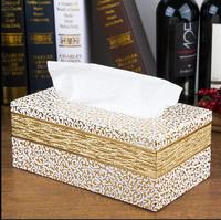 Luxe Synthetisch Leer Rechthoek Tissue Box Servet Box Servethouder Tissue Case Voor Home Decoratie 421A