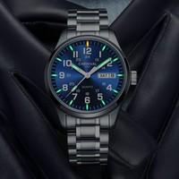 Fashion Men Watches Top Brand CARNIVAL T25 Tritium Luminous Military Watch Switzerland Quartz Watch Men Sapphire Double Calendar