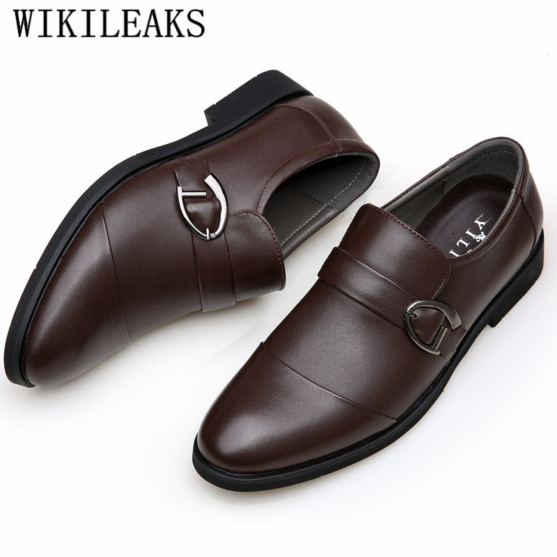 italian brand formal shoes men dress shoes oxford shoes for men loafers monk strap leather shoes men chaussures mariage homme